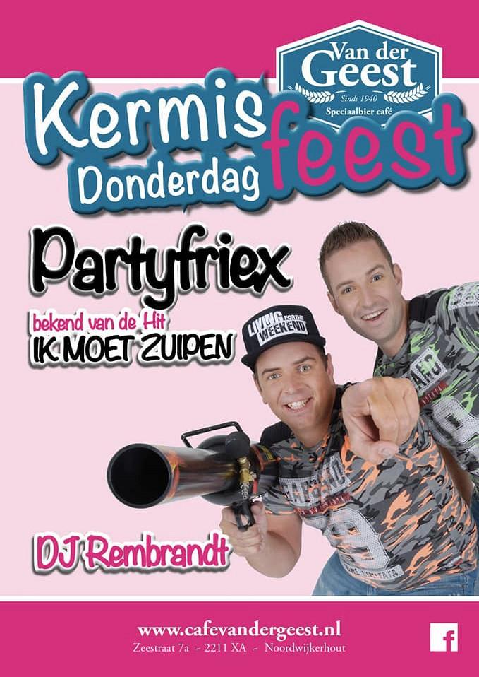 Kermis donderdag met de 'Partyfriex'