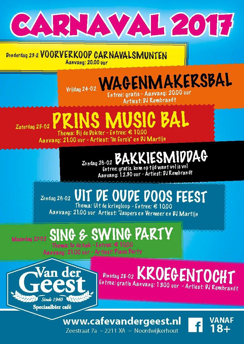 Kroegentocht - Dinsdag Carnaval