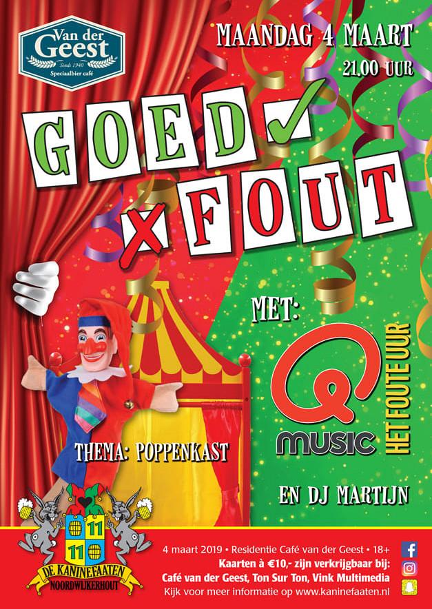 MAANDAG - vd Geest - GOED / FOUT