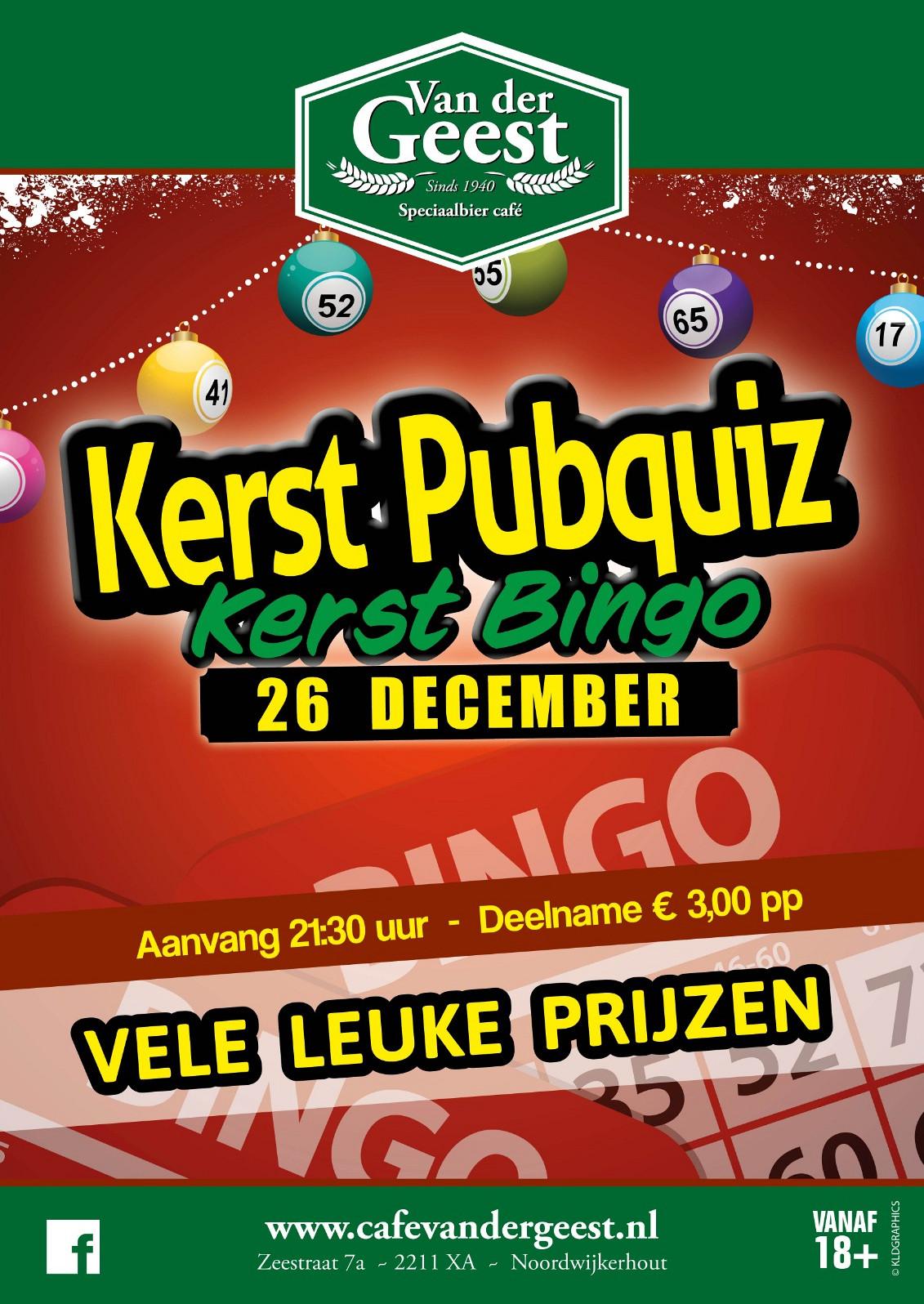 Kerstquiz + Bingo