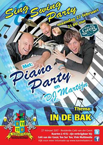 Café van der Geest Sing & Swing Party - Maandagavond Carnaval