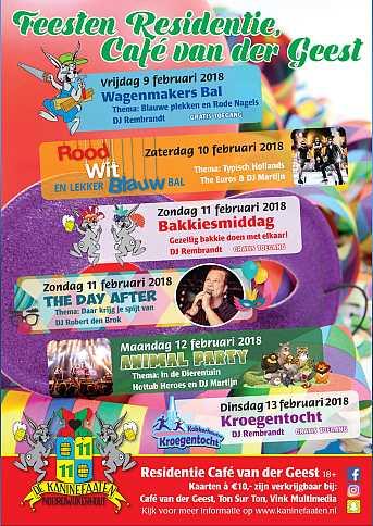 Café van der Geest Voorverkoop 'Café van der Geest' munten 5% korting - Donderdag Carnaval