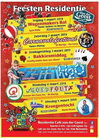 Café van der Geest Voorverkoop \'Café van der Geest\' munten 10 cent korting - Donderdag Carnaval