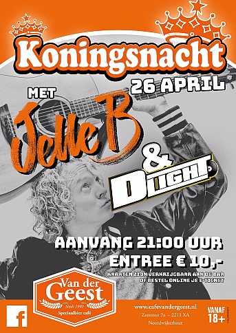 Café van der Geest Koningsnacht met 'Jelle B'
