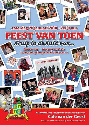 Café van der Geest Feest van Toen - Kruip in de huid van...