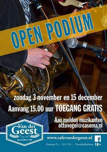 Café van der Geest Akoestisch Open Podium