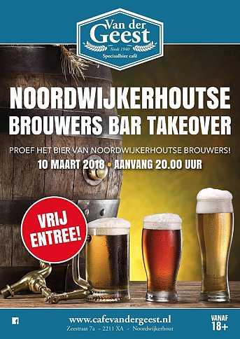 Café van der Geest Noordwijkerhoutse Brouwers Bar Takeover