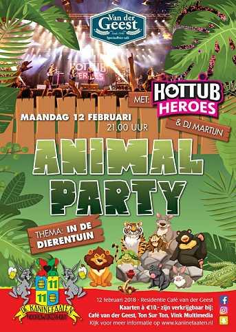 Café van der Geest ANIMAL PARTY