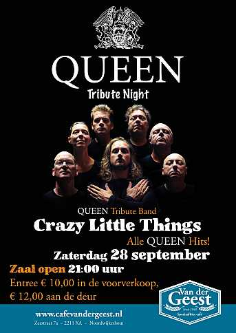 Café van der Geest Queen Tribute Night met 'Crazy Little Things'